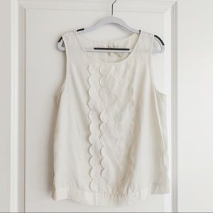 XS Frenchi White Scallop Tank